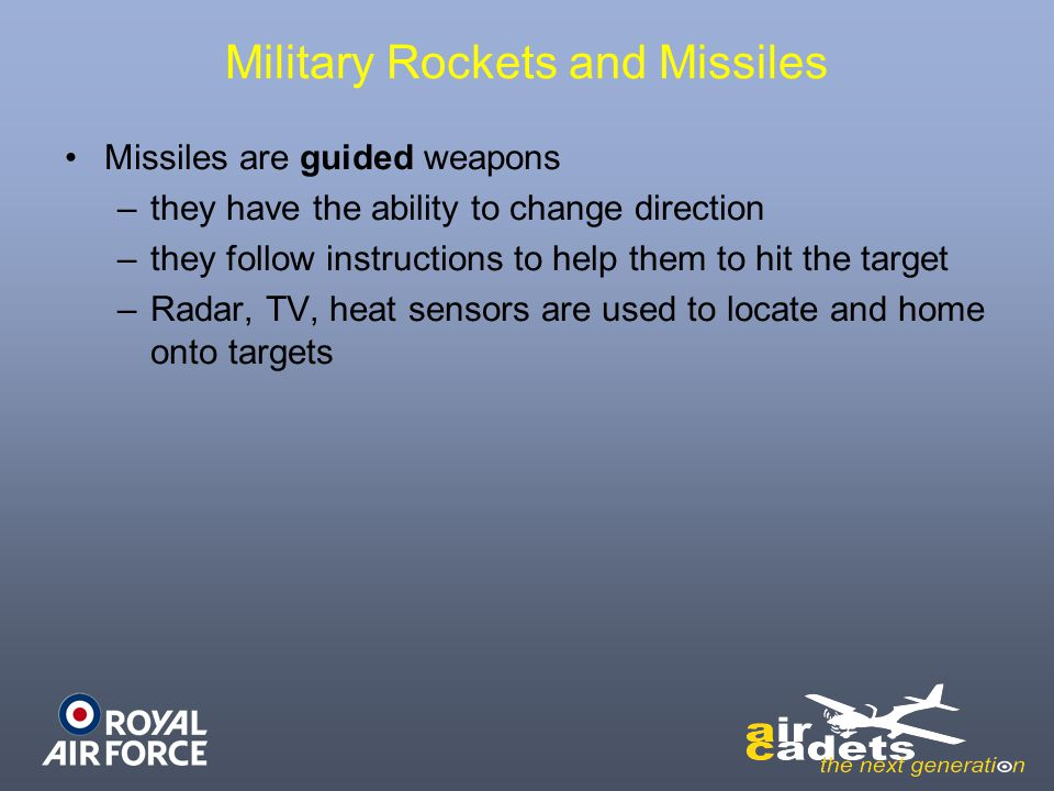 Military Rockets and Missiles