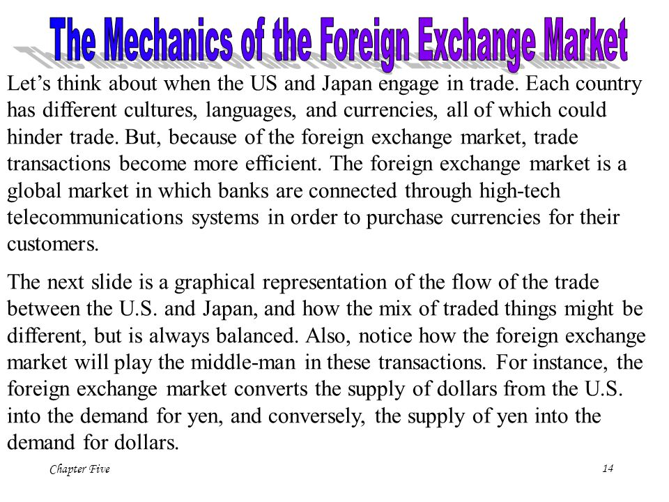 The Mechanics of the Foreign Exchange Market