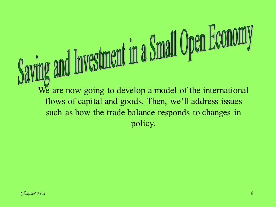 Saving and Investment in a Small Open Economy