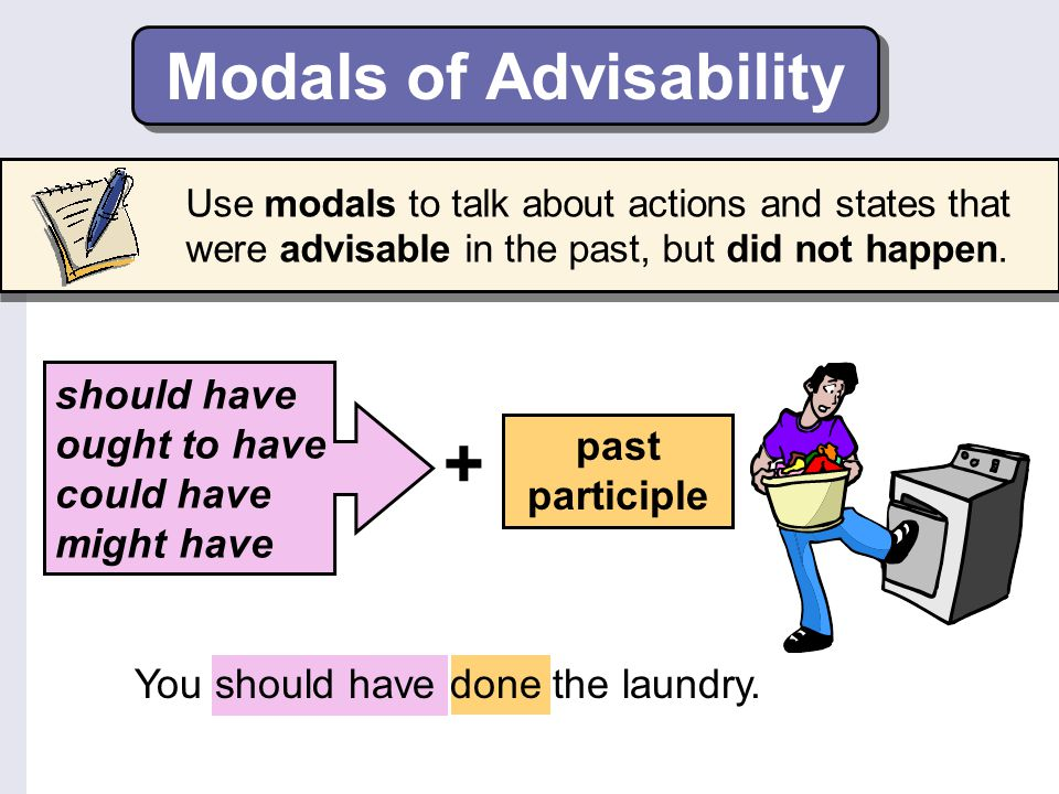 Modals of Advisability
