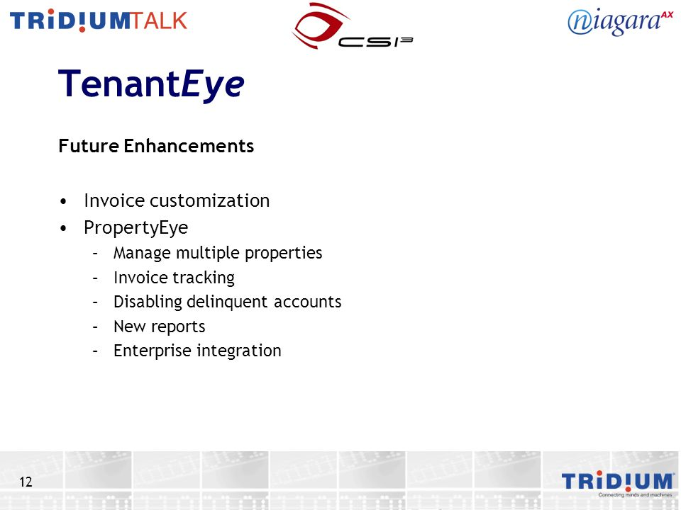 TenantEye Future Enhancements Invoice customization PropertyEye