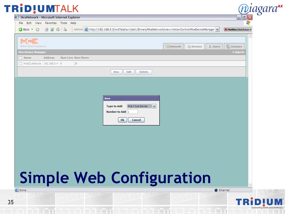 Simple Web Configuration