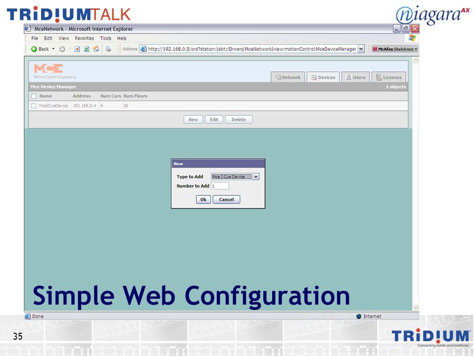 Simple Web Configuration