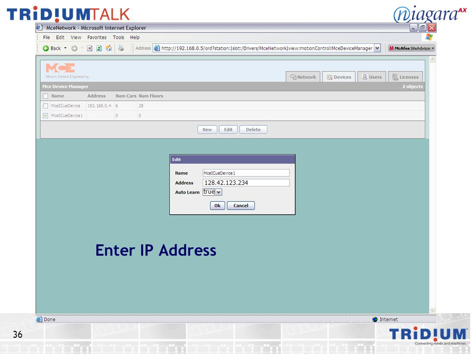 true Enter IP Address