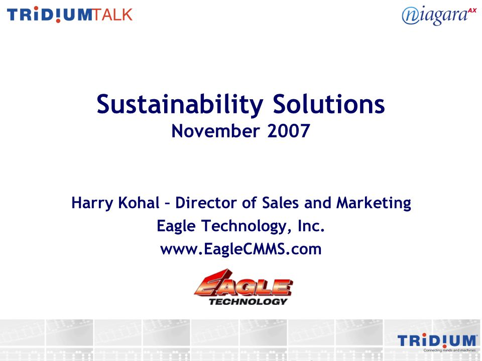 Sustainability Solutions November 2007