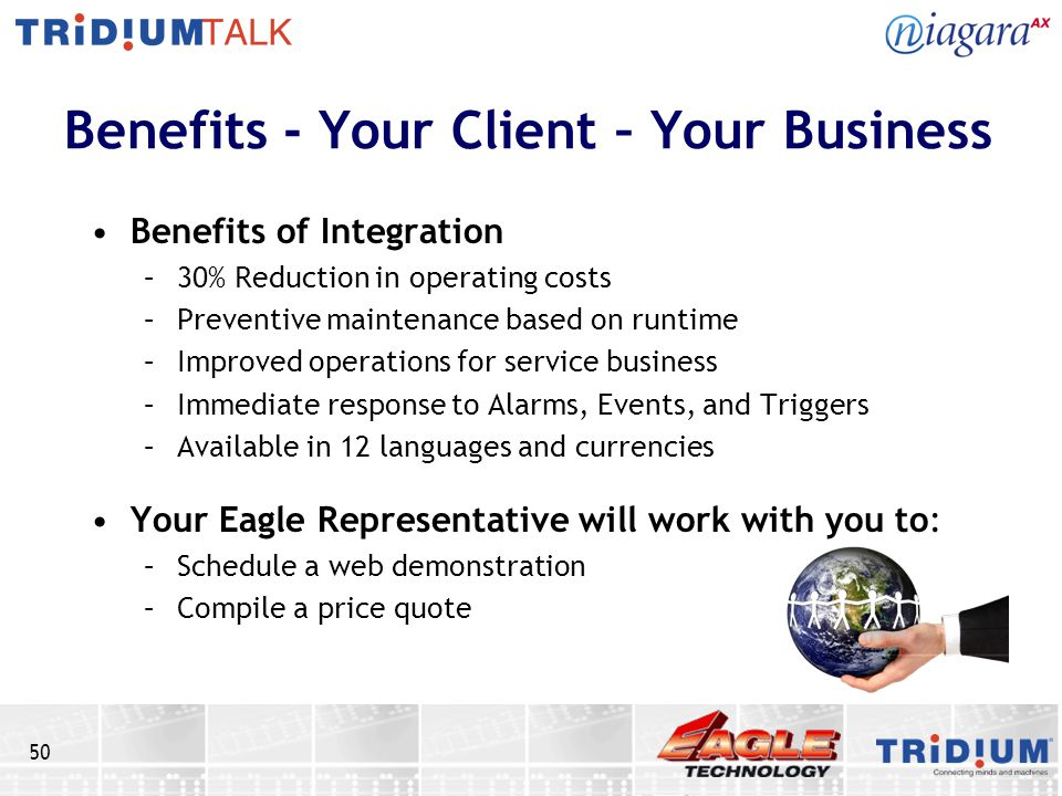 Benefits - Your Client – Your Business