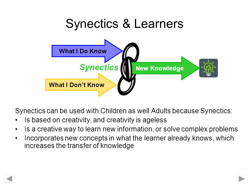 Synectics & Learners Synectics
