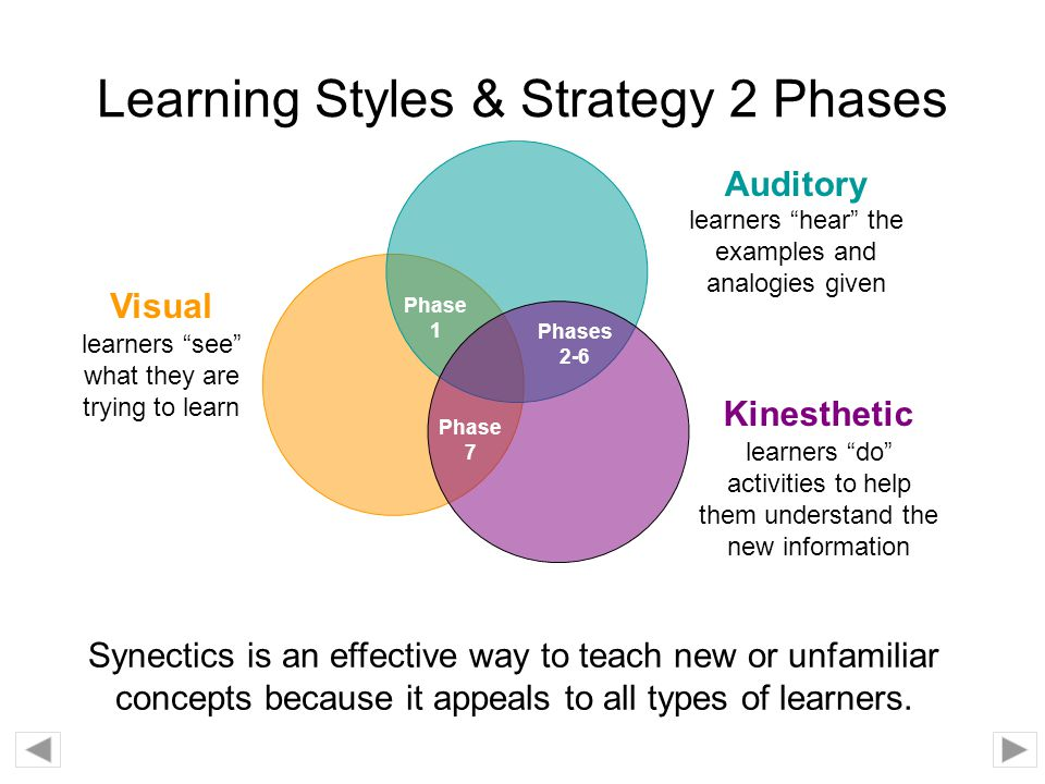 Learning Styles & Strategy 2 Phases