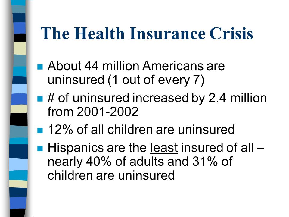 The Health Insurance Crisis