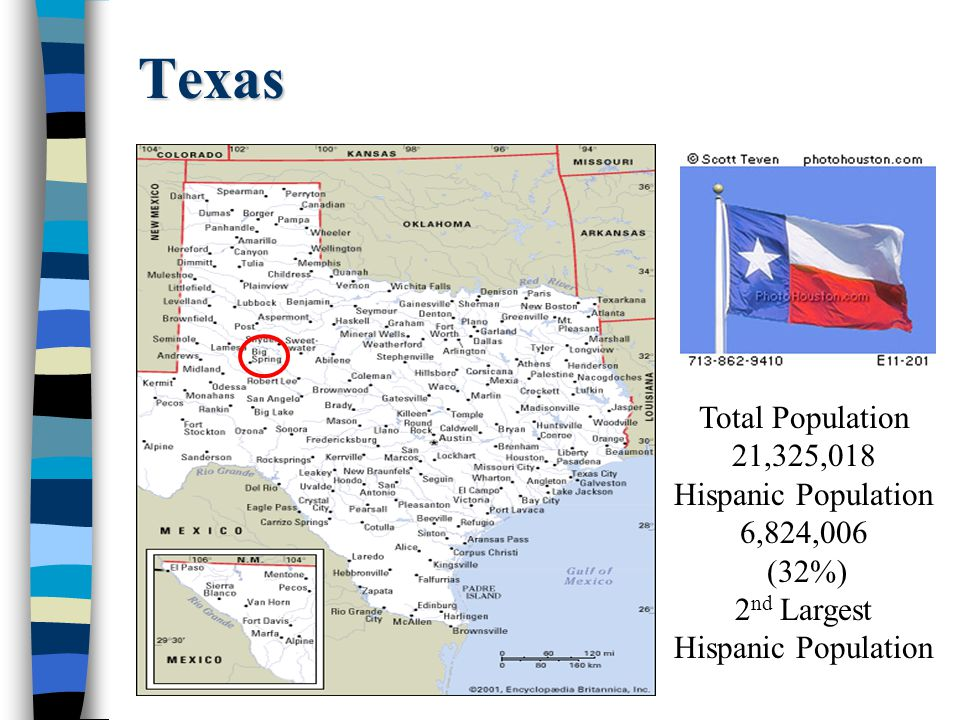 2nd Largest Hispanic Population