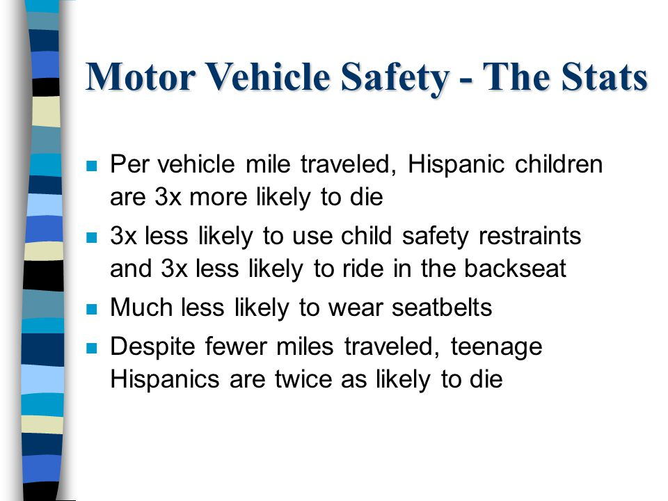 Motor Vehicle Safety - The Stats