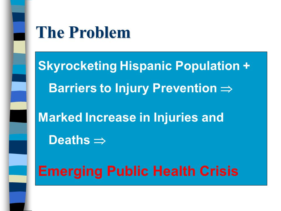 The Problem Emerging Public Health Crisis