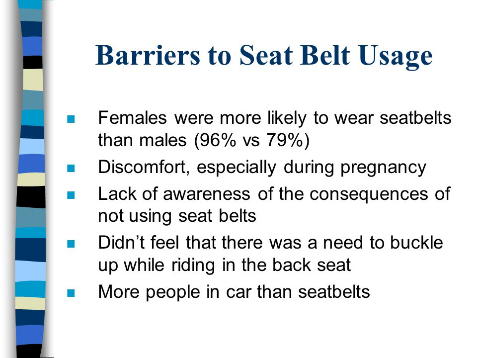 Barriers to Seat Belt Usage