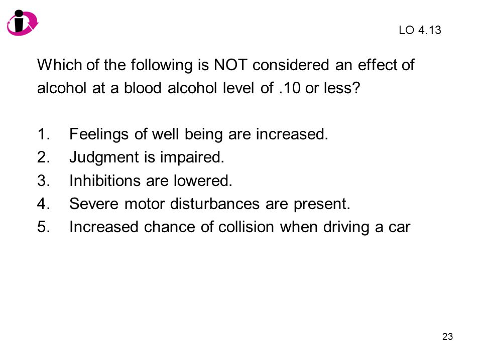 Which of the following is NOT considered an effect of