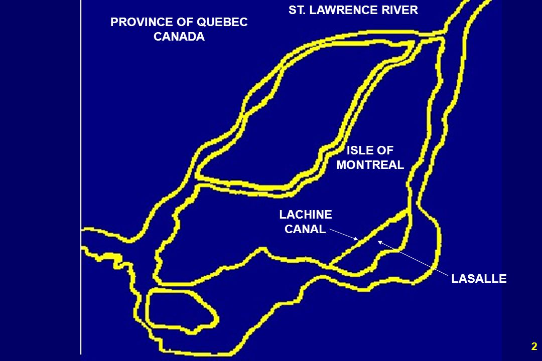 ST. LAWRENCE RIVER PROVINCE OF QUEBEC CANADA ISLE OF MONTREAL LACHINE CANAL LASALLE