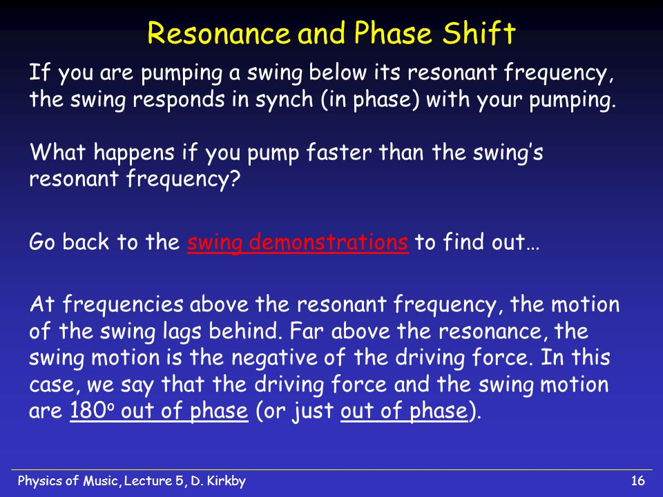 Resonance and Phase Shift