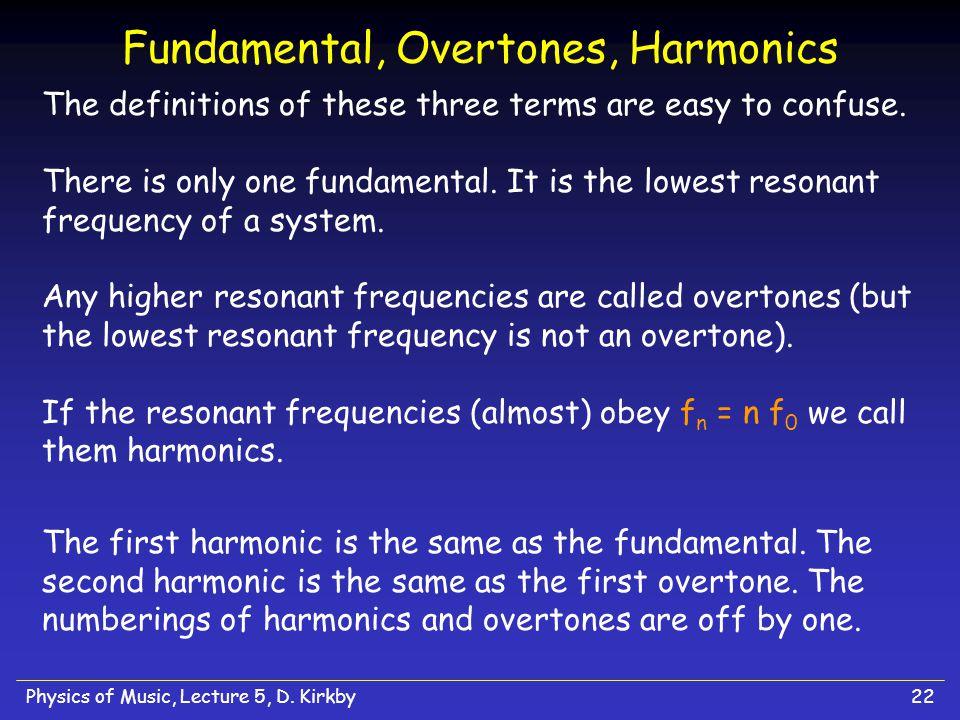 Fundamental, Overtones, Harmonics