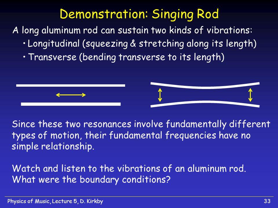 Demonstration: Singing Rod
