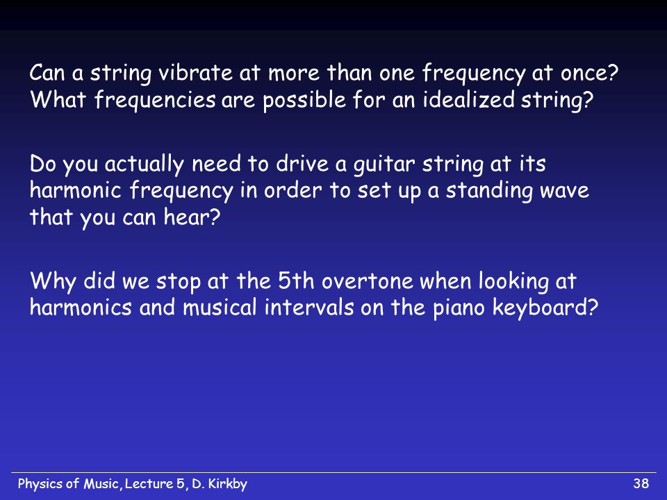 Can a string vibrate at more than one frequency at once