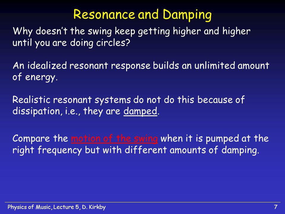Resonance and Damping