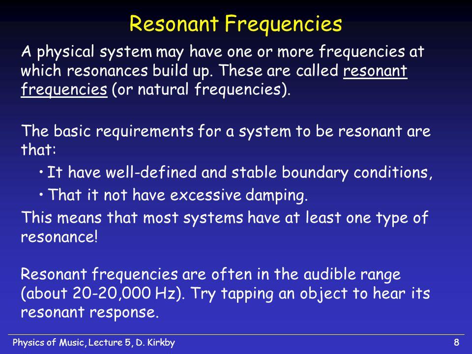 Resonant Frequencies