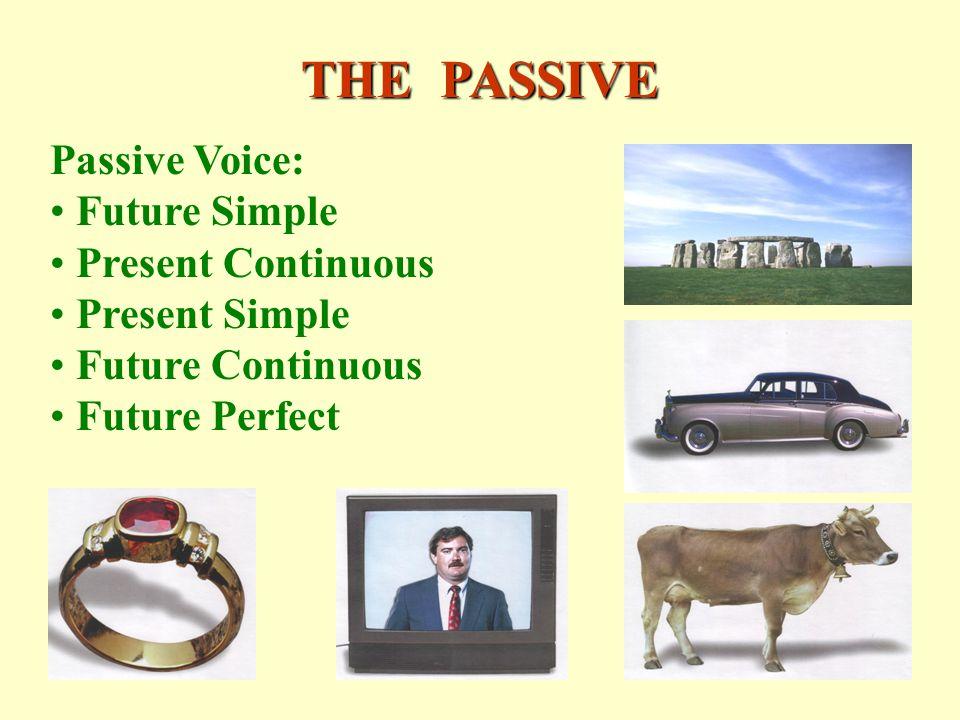 THE PASSIVE Passive Voice: Future Simple Present Continuous