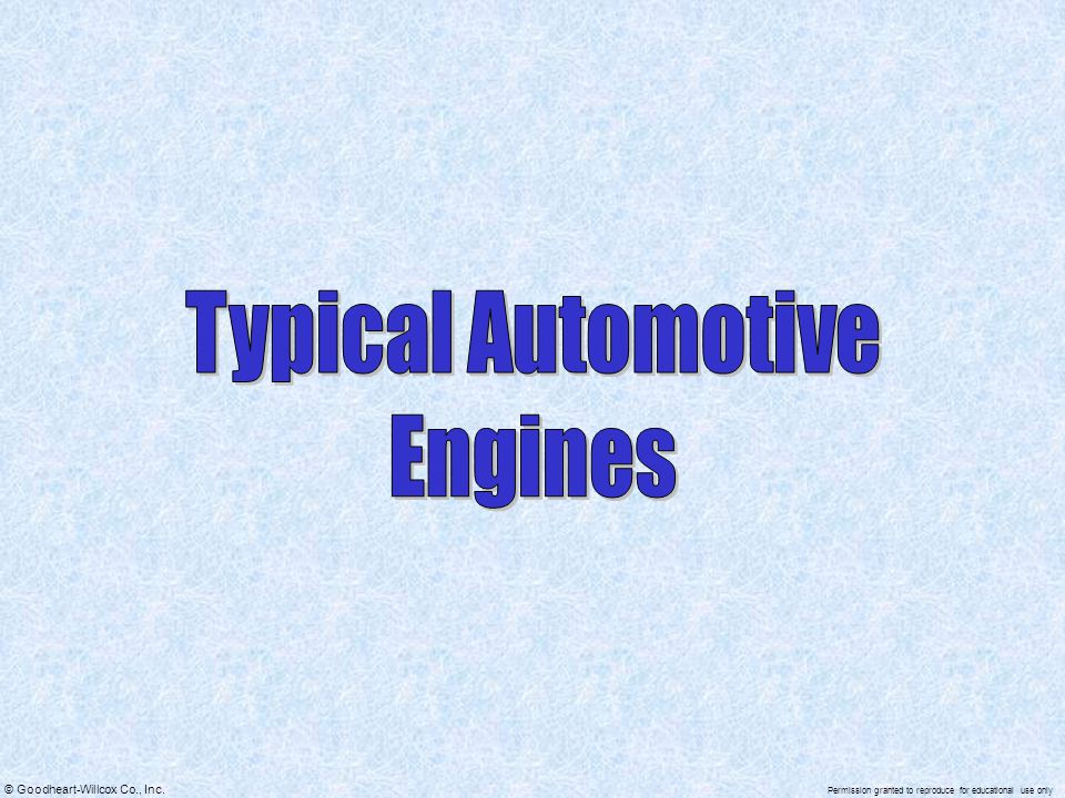 Typical Automotive Engines