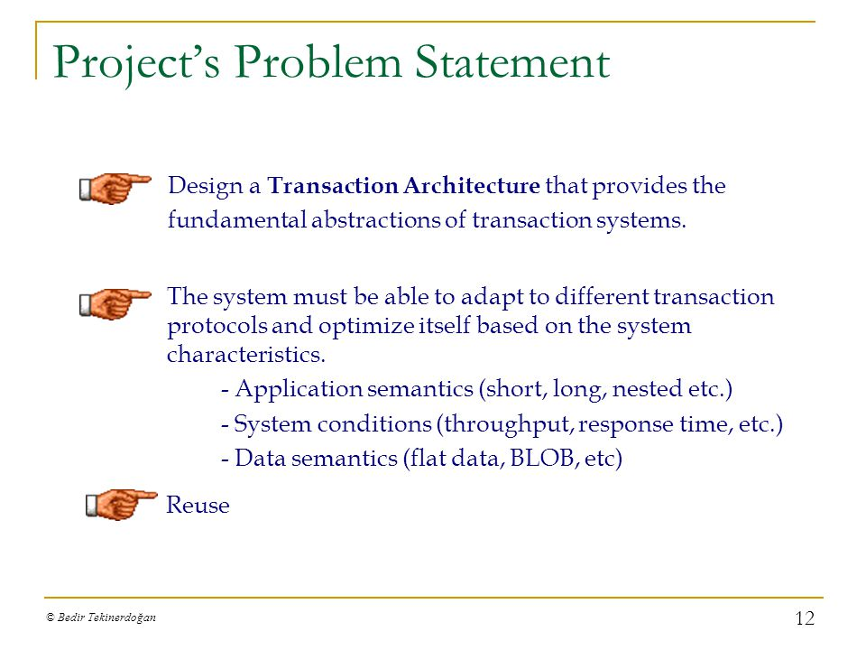 Project's Problem Statement