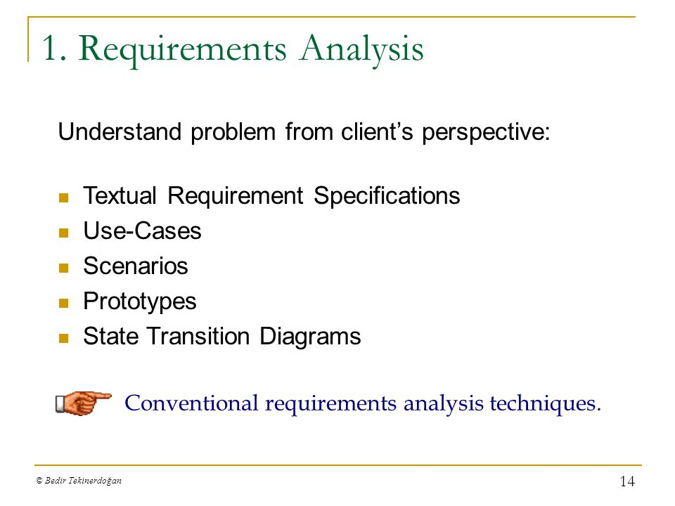 1. Requirements Analysis