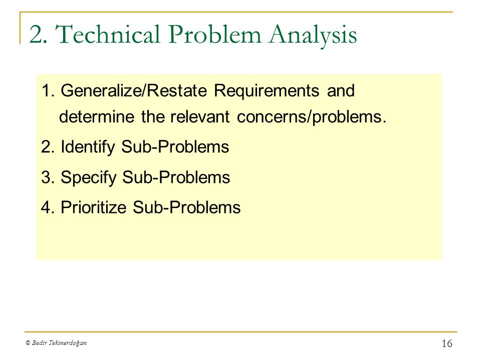 2. Technical Problem Analysis