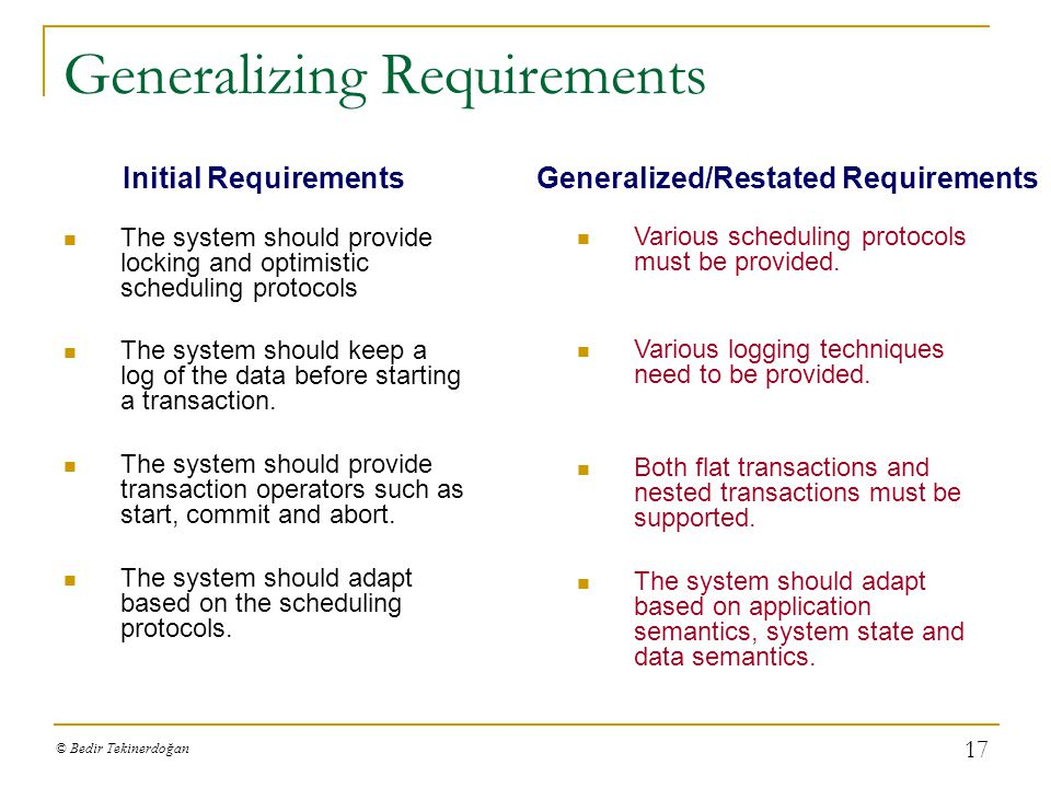 Generalizing Requirements