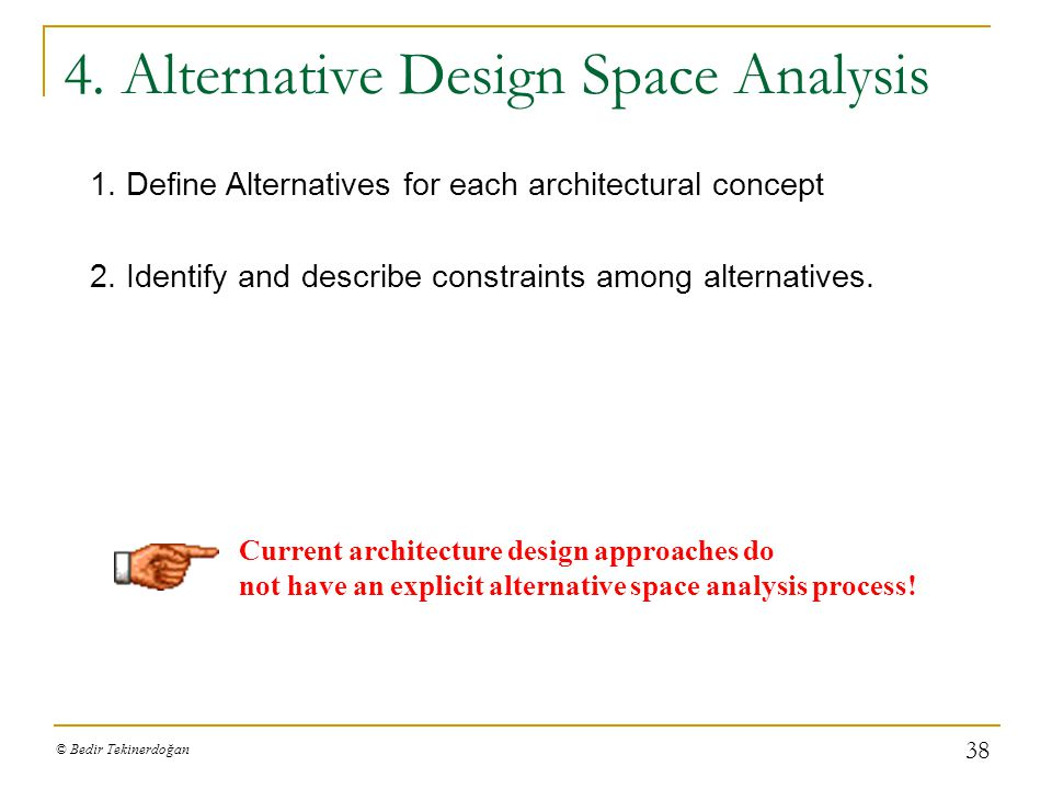 4. Alternative Design Space Analysis