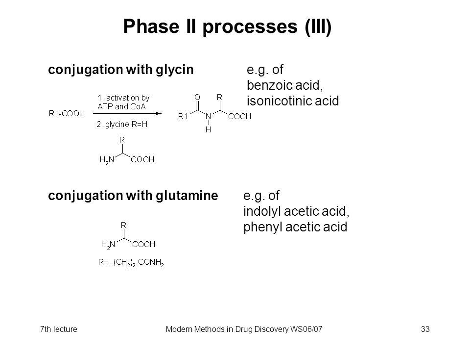 Phase II processes (III)