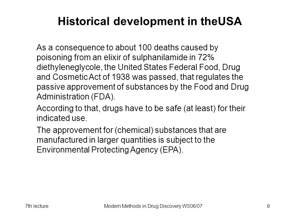 Historical development in theUSA