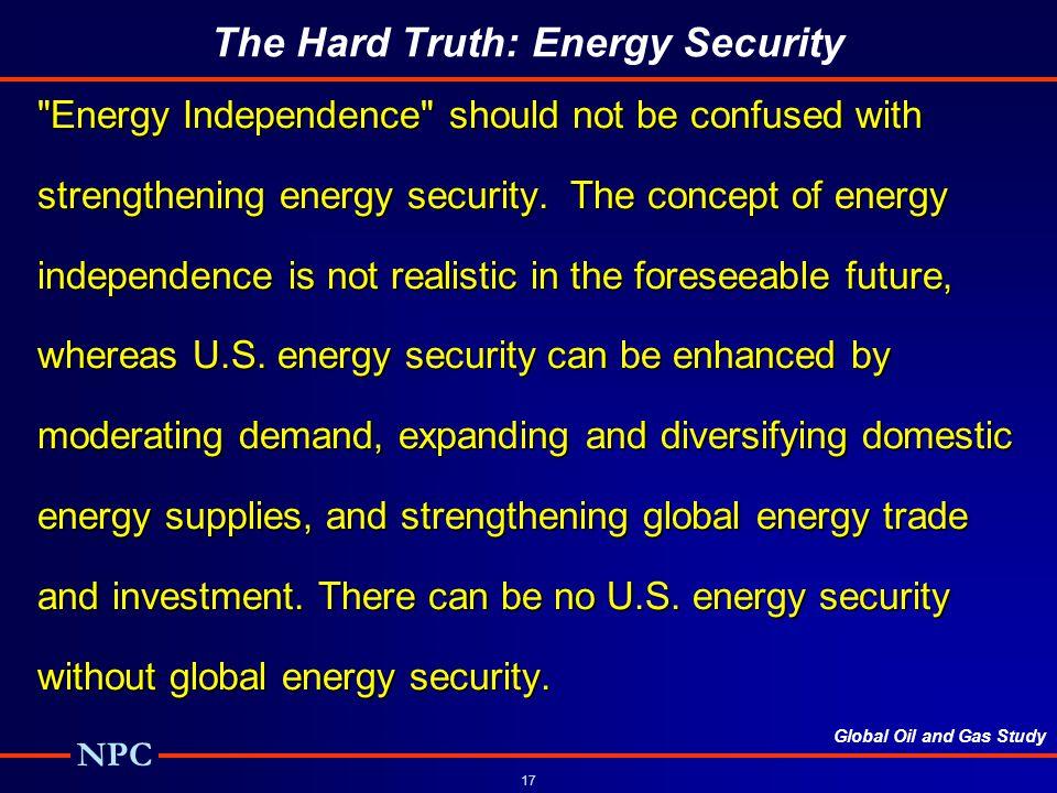 The Hard Truth: Energy Security