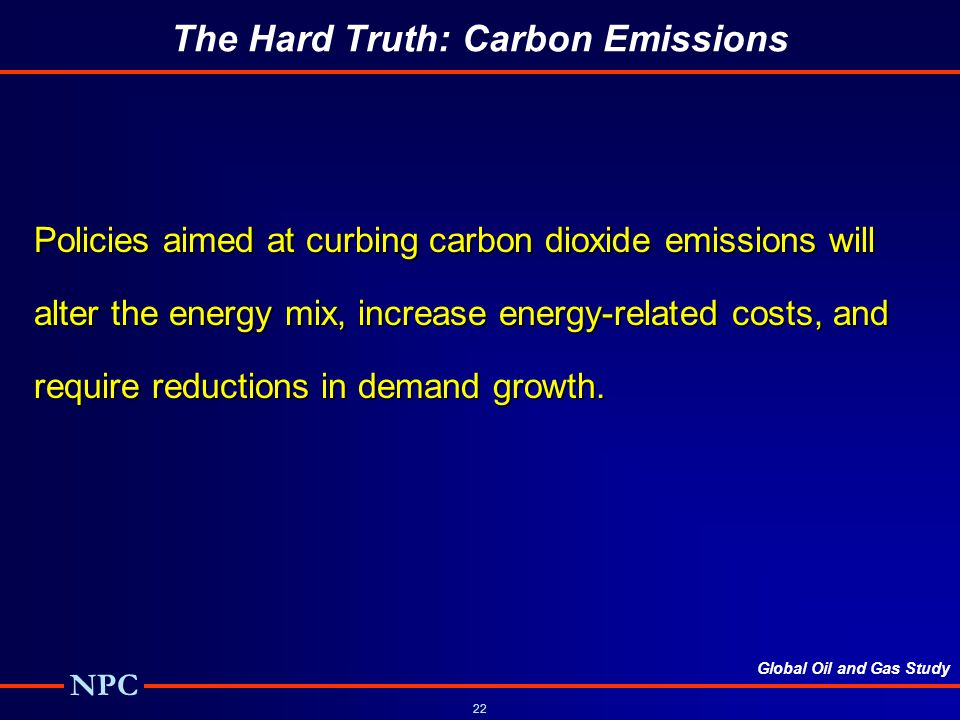The Hard Truth: Carbon Emissions