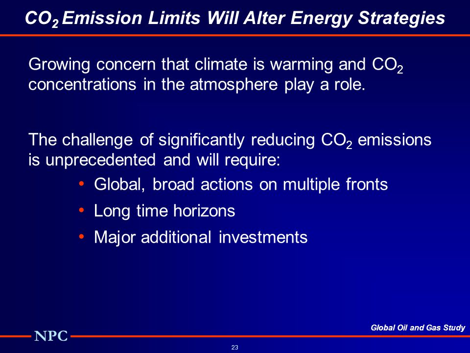 CO2 Emission Limits Will Alter Energy Strategies