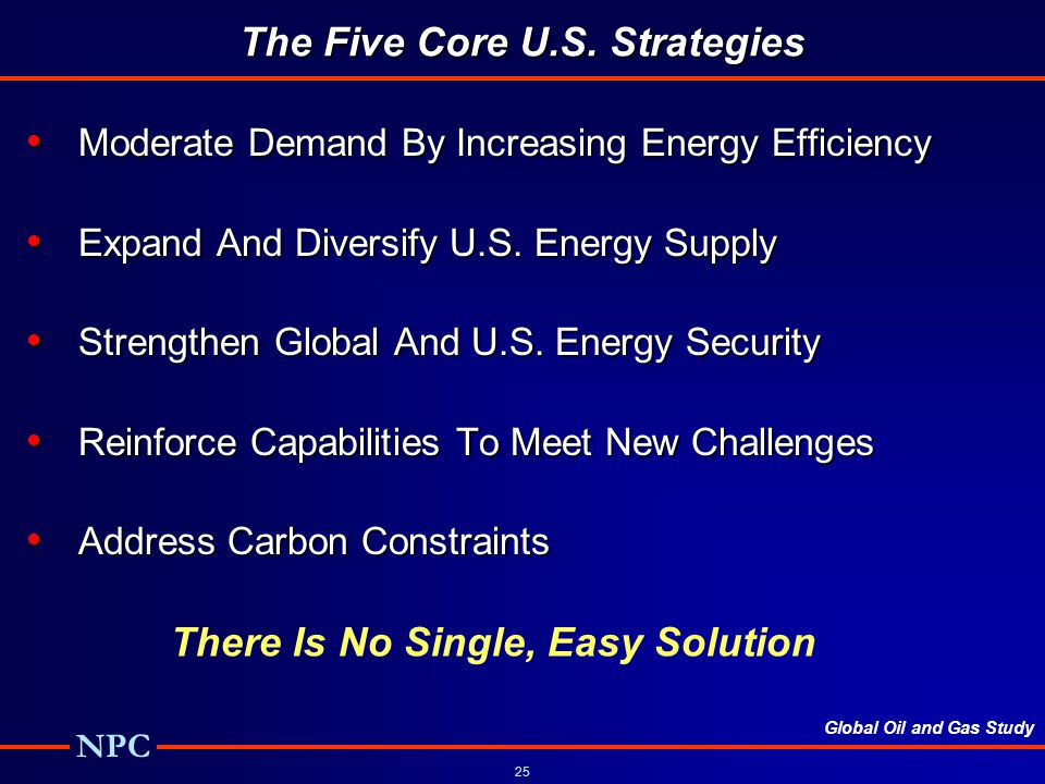 The Five Core U.S. Strategies