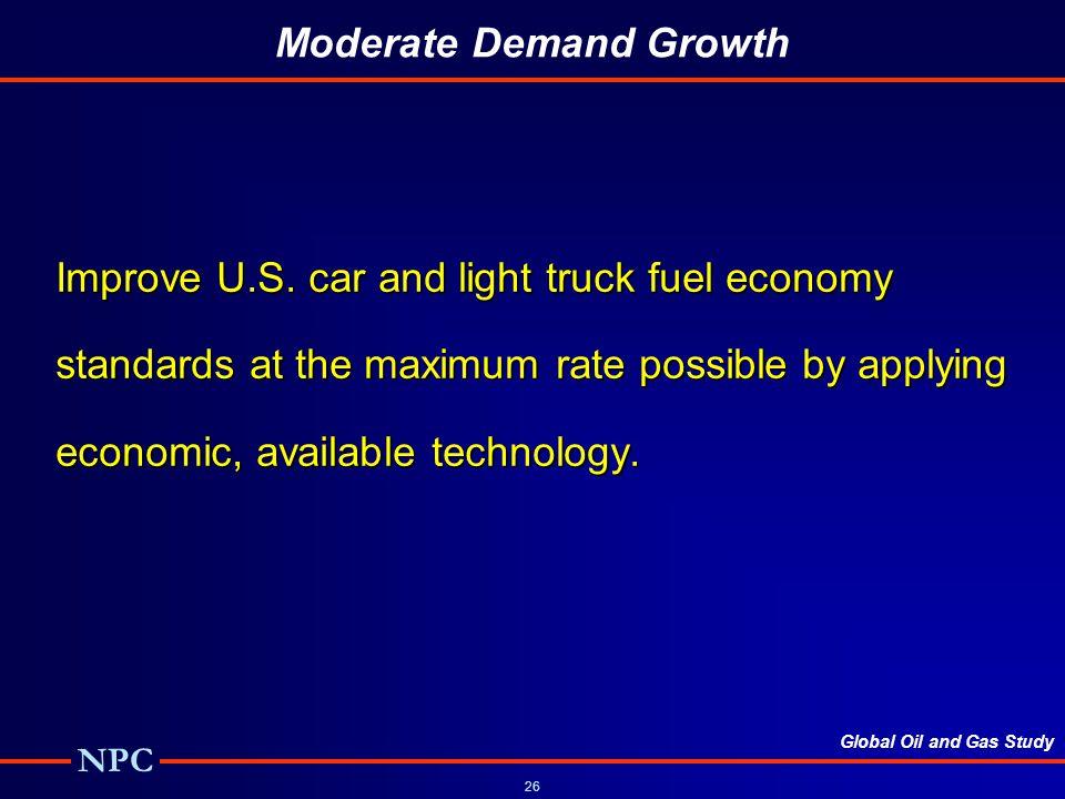Moderate Demand Growth