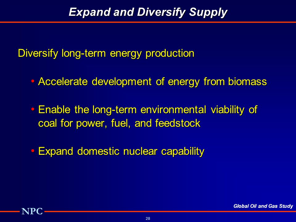 Expand and Diversify Supply