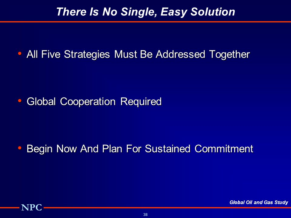 There Is No Single, Easy Solution
