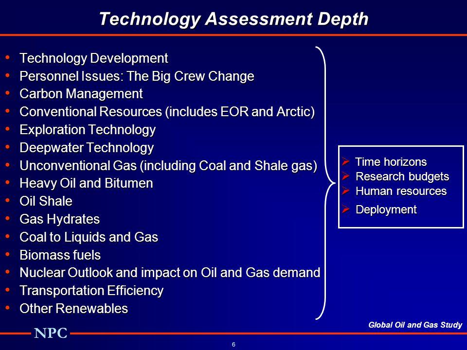 Technology Assessment Depth