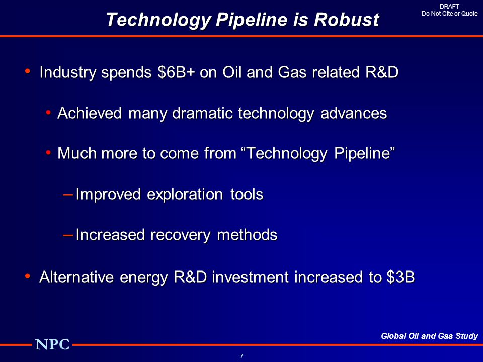 Technology Pipeline is Robust
