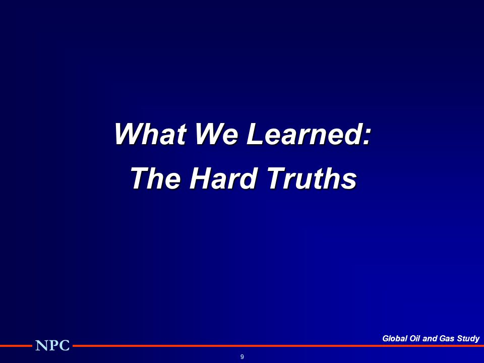 What We Learned: The Hard Truths