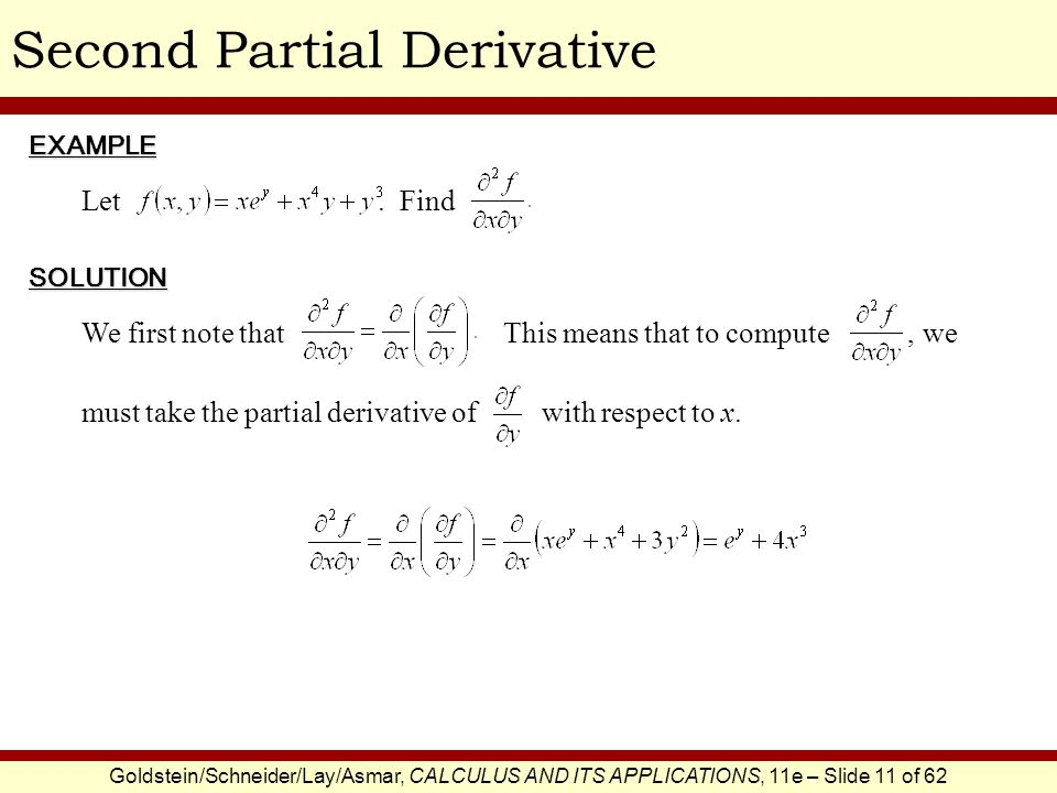 Second Partial Derivative