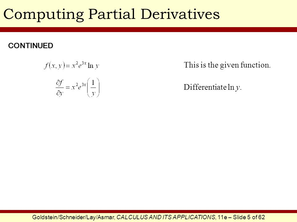 Computing Partial Derivatives