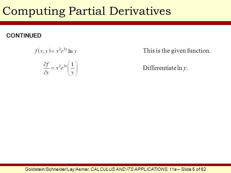Computing Partial Derivatives