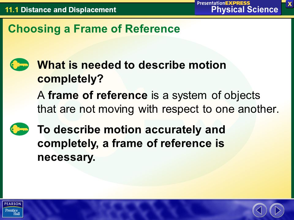 Choosing a Frame of Reference
