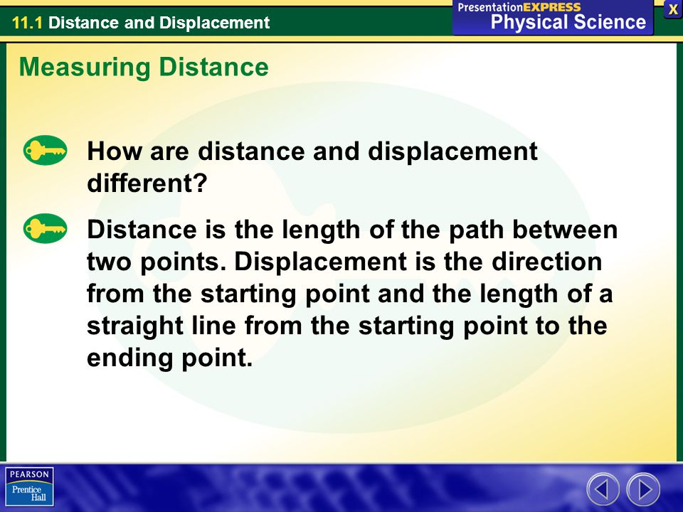 Measuring Distance How are distance and displacement different
