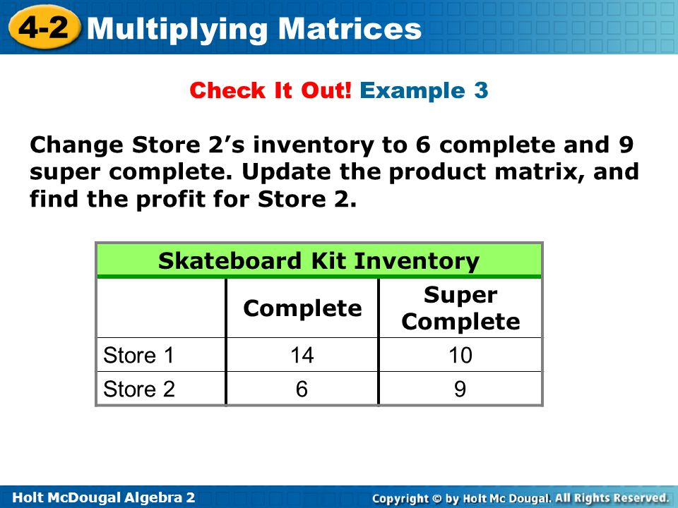 Skateboard Kit Inventory